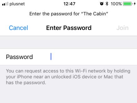 iOS 11 wifi share_2