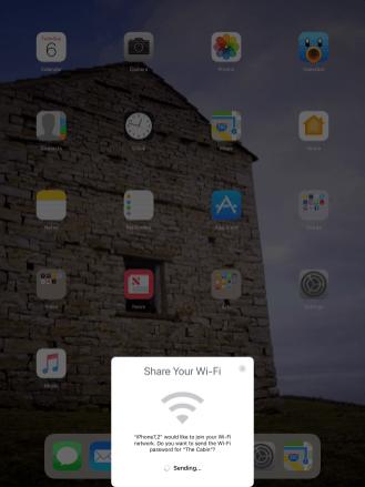 iOS 11 wifi share_3