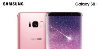 samsung galaxy s8 in pink colour