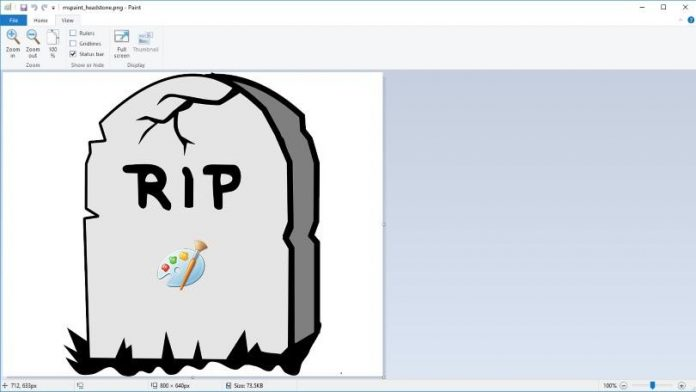 microsoft removed ms paint