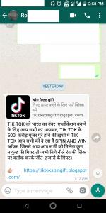 Random links on WhatsApp