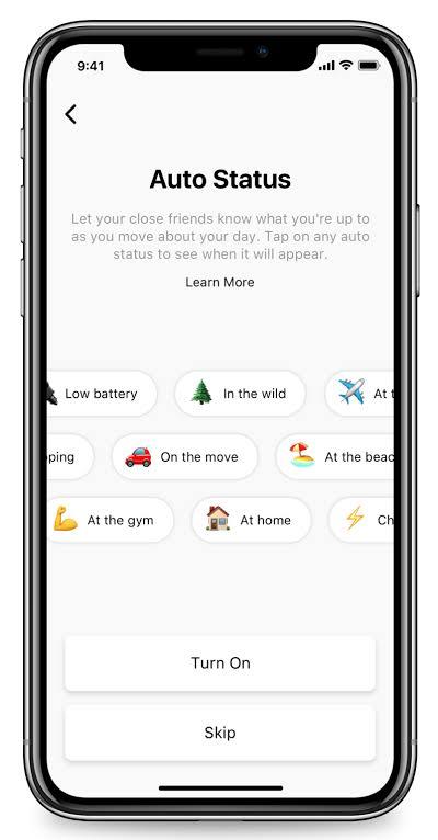 Auto Status Location for Messenger