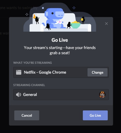 Stream Movies and Shows on Discord