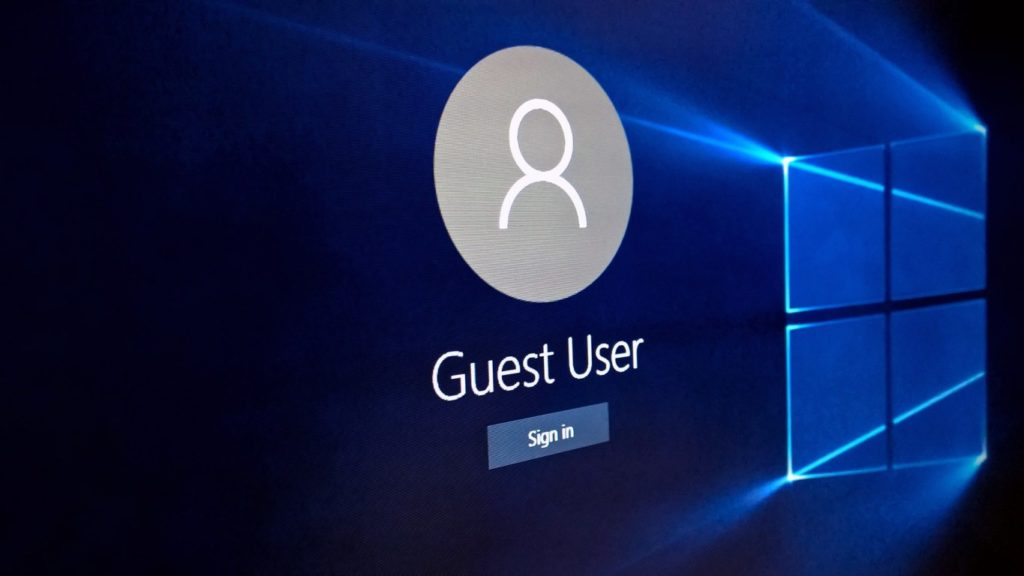 Add Guest Account in Windows 10