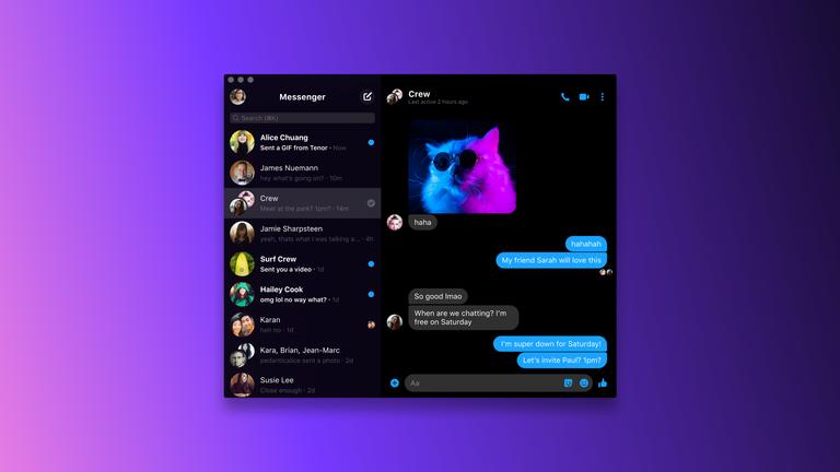 Facebook Messenger Launches Desktop App
