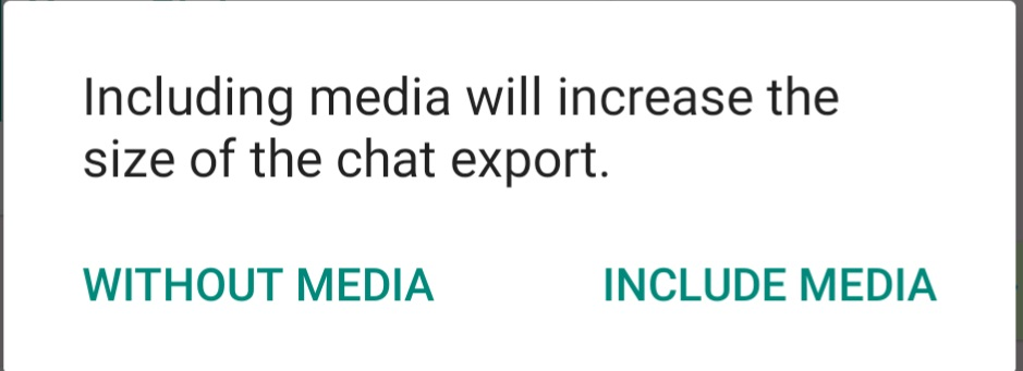 Export WhatsApp Chat History