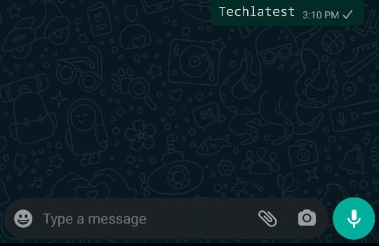 italicize a text in WhatsApp