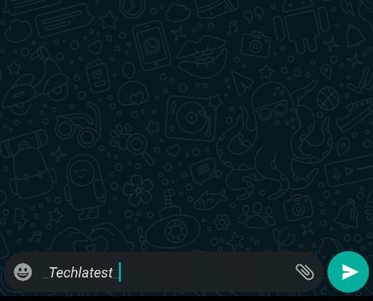 italicize text in WhatsApp