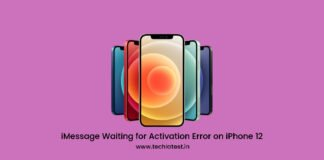 iMessage Waiting for Activation Error on iPhone 12